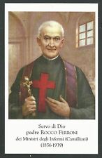 estampa del Siervo Padre Rocco santino holy card image pieuse