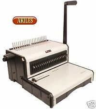 "Akiles AlphaBind CM Binding Machine & Punch for Comb Spines 12"" ( New )"