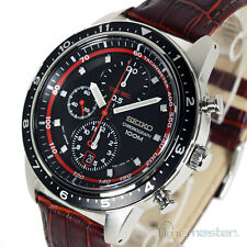 SEIKO SPORTS 7T92 CHRONOGRAPH TACHYMETER LEATHER STRAP SNDF45P1 SNDF45