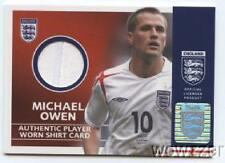 2005 Topps England Michael Owen Authentic Player WORN SHIRT CARD MINT Hologram!!