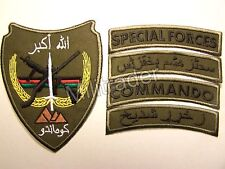 Afghan Afghanistan Special Forces-Commando Patch w/Pashto Tabs (Olive Variant)