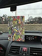 4 JDM Stickerbomb Car Air Freshener Illest wakaba Vtec Drift Car Truck DomoKun