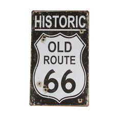 """20×30cm """"ROUTE 66"""" Poster Vintage Metal Tin Sign Art Wall Decor Painting Plaque"""