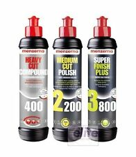 Menzerna Pro 250ml Polish Sample Kit - Heavy 400 Medium 2200 Finish 3800 Polish