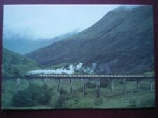 POSTCARD INVERNESS-SHIRE STEAM TRAIN ON THE GLENFINAN VIADUCT