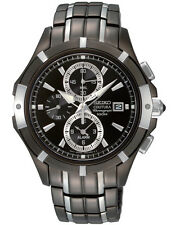 Seiko Coutura Mens Chronograph Watch. Stand out with Sleek Looks SNAE57P-9