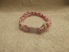 Breast Cancer Titanium Tornado Bracelet  ( Large)