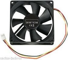 NEW 92MM 3 PIN FAN COOLER FOR PC COMPUTER SYSTEM CASES AIR FLOW AND COOLING