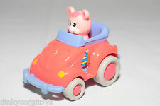 PLASTIC VW VOLKSWAGEN BEETLE KAFER WITH PINK BEAR EXCELLENT CONDITION