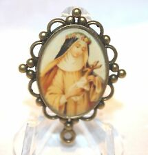 Custom Bronze Rosary Center Part/Color/Rosary Making/St. Therese of Lisieux
