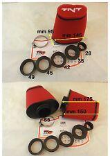 filtro aria carburatore scooter moto minimoto TNT 28-35-42-45-49-55 ROSSO