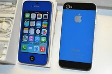 Apple iPhone 4 8GB Gsm  (AT&T) Factory Unlocked   Dark Blue i5 Style Metro Pcs