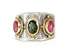 KONSTANTINO Sterling Silver & 18K Yellow Gold PHOEBE Three-Stone Ring