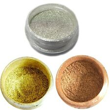 Magic Mirror Chrome Pigment Nail Powder Silver, Gold & Bronze Imperial Kit Sheba