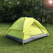 Family Camping Hiking Instant Tent 2 Usage Double Layer Automatic Beach Shelter