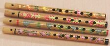Hand Painted Bamboo Carved FLUTE Traditional Recorder Indian Music Instrument