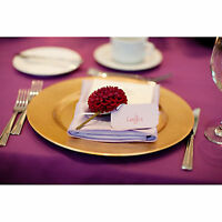 Set Of 12 Gold Lacquer Decorative Charger Dinner Table Under Plate Wedding Mat