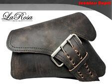 2004-2015 LaRosa Rustic Black Leather La Fondina Harley Sportster Left Saddlebag
