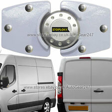 White Stoplock Van High Security Anti Theft  Side or Back Door Lock Hasp Padlock