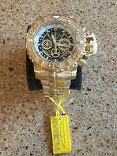 Invicta Sea Hunter 70mm Full Sized Swiss 18kt Gold Plated. W/ 8-Slot Dive Case
