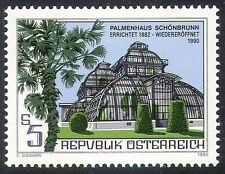 Austria 1990 Palm Tree/Palms/Trees/Plants/Nature/Building/Architecture 1v n32312