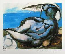 Pablo Picasso Reclining Nude At Beach Estate Signed Limited Edition... Lot 6390T