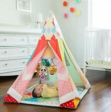 Baby Play Mat Teepee PlayHouse Kids Indian Tent Children Indoor Outdoor Canvas