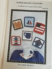 Paper Pieced Coasters SWD 120 Quilting Pattern by Sew Wonderful Dreams