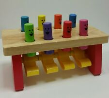 Melissa and & Doug Wooden Deluxe Pound a Peg Pounding Board Bench NO MALLET