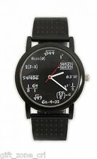 Novelty EQUATION WATCH Numerical Sums - BLACK FACE Wrist Watch - Thumbs Up