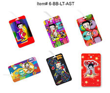Betty Boop Luggage Tags 3D, Flip, Animated Lenticular SET OF 6 #6-BB-LT-AST#