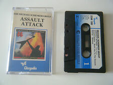 MICHAEL SCHENKER GROUP ASSAULT ATTACK CASSETTE TAPE '82 PAPER LABEL CHRYSALIS UK