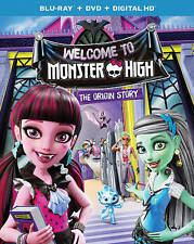 Monster High: Welcome to Monster High Blu Ray + DVD + Digital HD Brand New Movie