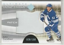 2011 11-12 Ultimate Collection Debut Threads Patches #DTJG Jake Gardiner 28/100