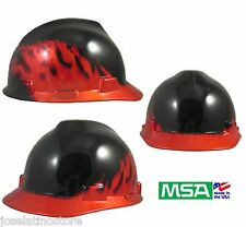 MSA Black Fire and Flame Hard Hat Ratchet Suspension w Slots FAST SHIPPING!