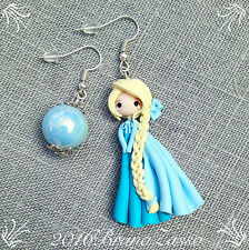 Orecchini Elsa ~ Cute Frozen Disney Earrings Fimo Polymer Clay Kawaii Princess