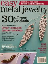 Easy Metal Jewelry 30 New Projects Stamped Feather Earrings  2015 FREE SHIPPING
