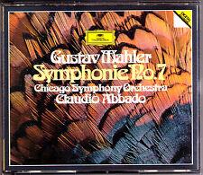Claudio ABBADO: MAHLER Sinfonie No.7  Chicago Symphony Orchestra 2CD 1984 WG