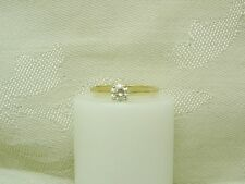 FABULOUS!!  14K YELLOW GOLD DIAMOND SOLITAIRE RING SIZE 4 3/4 N79-S
