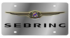New Chrysler Sebring Logo Stainless Steel License Plate