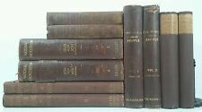 1869~MUSIC~ROMANCE~THE WORLD~Antique Red 10 Book Lot~TALL Old Decorative Set