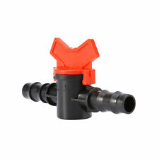 Plastic Connector Water Hose Pipe Garden Tap Drip Irrigation Barb Ball Valve