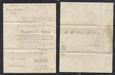 Sobre y carta de Oviedo, 21 de Noviembre de 1898. Sello de 1/4 céntimo de peseta