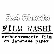 Washi Film - Handmade Film on Japanese Paper - 8x10/10x8  Sheets 6 pack