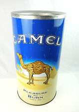 "Vintage Camel Cigarettes 19.5"" Round Litho Standing Ashtray Trashcan Store Model"