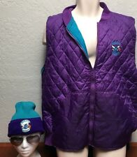 Vintage Charlotte Hornets NBA In The Paint 90s Full Zip Vest  & Rossmor Knit Cap