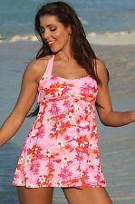 UjENA Tankini Top Size S Sunset Beach Twist Floral Print Swimwear
