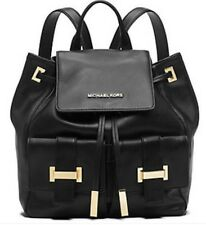 MICHAEL KORS 'MARLY' BLACK DRAWSTRING SOFT CALF LEATHER BACKPACK NEW WITH TAGS