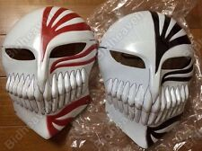 2 Pcs Set Bleach Ichigo Kurosaki Full Face Hollow Mask Halloween Props Cosplay