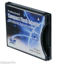 Professional New SD/SDHC/MMC/Eye-Fi card to Compact Flash CF Type II Adapter CDA